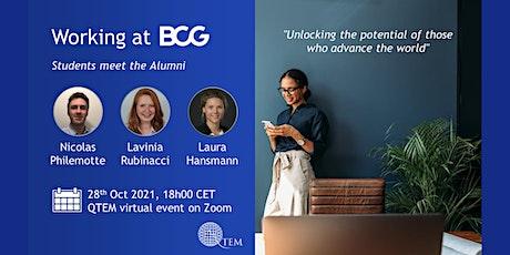 QTEM Students Meet the Alumni @ BCG tickets