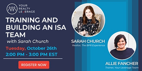 Training and Building an ISA Team with Sarah Church tickets