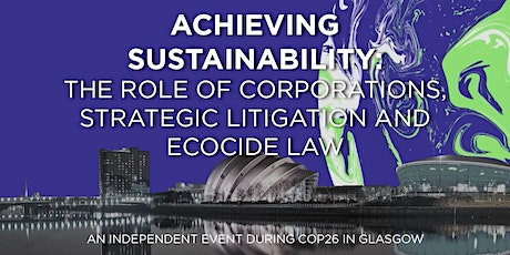 Achieving sustainability: role of corporations,  litigation and ecocide law tickets