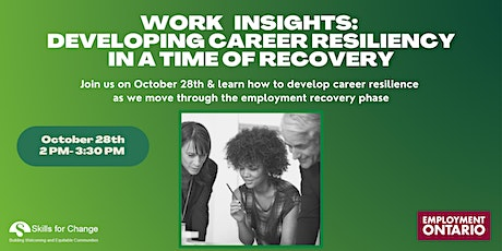 Work Insights Webinar: Developing Career Resilience in a Time of Recovery tickets