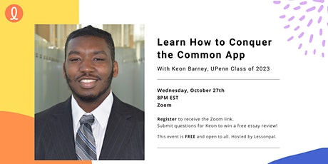 Conquer the Common App - Free Virtual Talk tickets