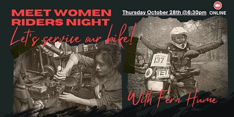 Meet Women Riders Night: Let's service our bike tickets