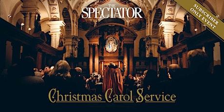 The Spectator Christmas Carol Service 2021 tickets