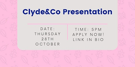 Clyde&Co Presentation tickets