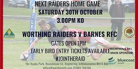 Worthing Raiders v Barnes RFC tickets
