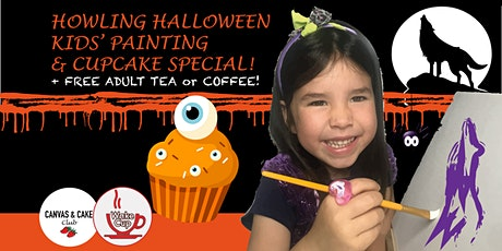 Halloween Kids' Paint Session - with Cupcake PLUS Tea or Coffee! tickets