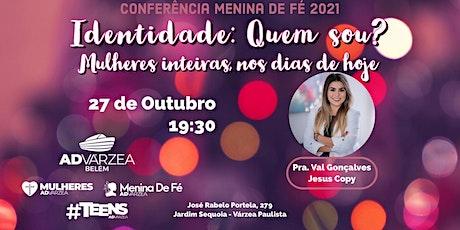 Conferência Menina de Fé 2021 ingressos