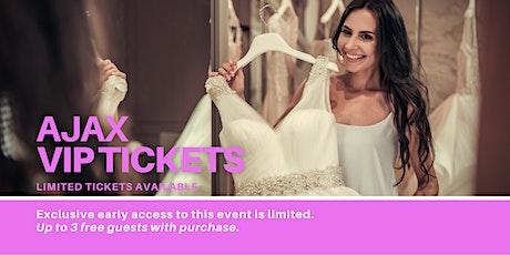 Ajax Pop Up Wedding Dress Sale VIP Early Access tickets