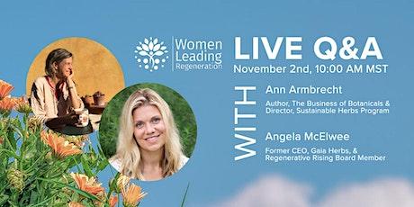 Women Leading Regeneration Live Q&A tickets