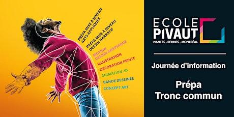 Journées d'informations Prépas et Tronc commun de  l'Ecole Pivaut Nantes billets