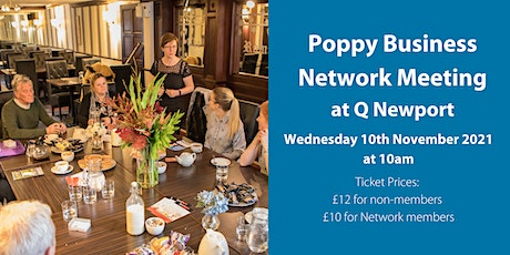 Poppy Business Network Meeting - Wednesday 10th November 2021 tickets