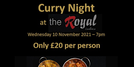 Curry Night at The Royal Indian tickets