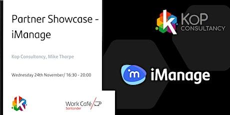 Partner Showcase - iManage tickets