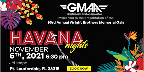 Greater Miami Aviation Assn. Wright Brothers Memorial Hangar Party Gala tickets