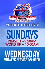 Welcome to Word of Peace International Ministry, Inc. tickets