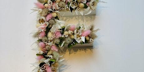 Atelier Lettre en fleur sechées billets