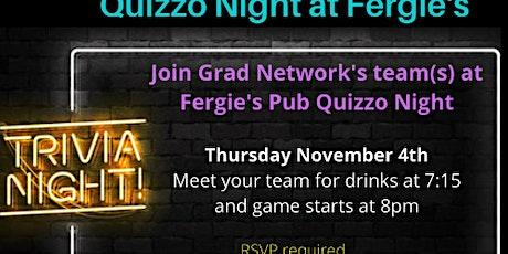 Grad Network Quizzo Night at Fergie's Pub November 4th tickets