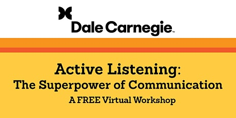 Active Listening: The Superpower of Communication tickets