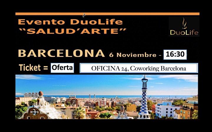 imagem Estás Invitado, Evento SALUD ' ARTE - DuoLife Barcelona