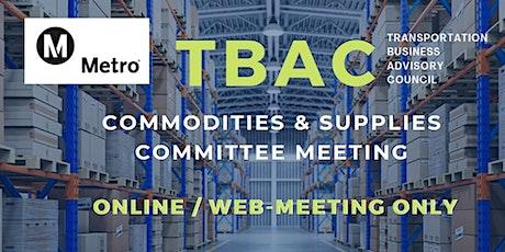 LA Metro TBAC Commodities & Supplies Committee Meeting - WEB/ONLINE MEETING tickets