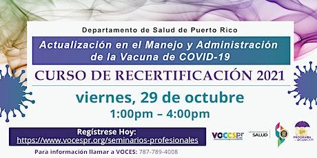 Actualización para el Manejo y Administración de la Vacuna de COVID-19 entradas