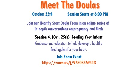 Meet The Doula -  Feeding Your Infant tickets