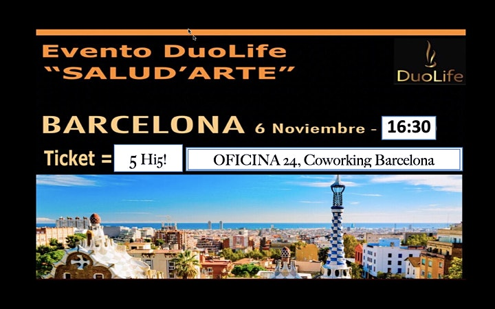 imagem SALUD ' ARTE - Evento DuoLife Barcelona