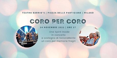 CORO PER CORO Concerto gospel biglietti