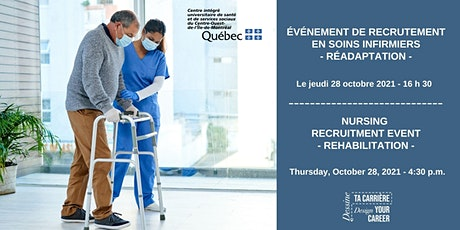 Événement de recrutement en soins infirmiers- Nursing Recruitment Event tickets