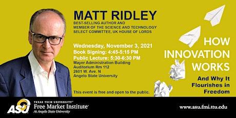 FMI Public Speaker Series at ASU - Matt Ridley tickets