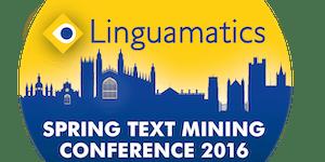 Linguamatics Spring Text Mining Conference 2016