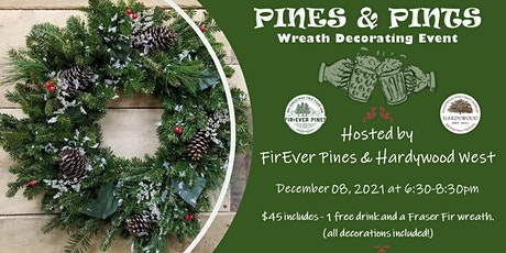 Pines & Pints - Wreath Decorating Event at Hardywood West tickets