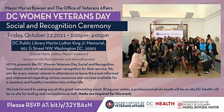DC Women Veterans Day Social and Recognition Ceremony tickets