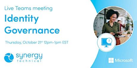 Synergy Technical Webinar: Identity Governance biglietti
