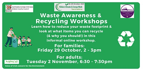 Waste Awareness and Recycling Workshop: Daytime Session (family friendly) tickets