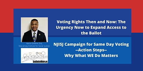 Voting Rights Then and Now: The Urgency Now to Expand Access to the Ballot. tickets