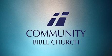 Community Bible Church, Sunday AM Registration- October 24 tickets
