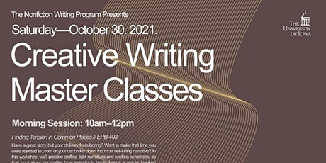 Creative Writing Master Classes: Fall 2021 tickets