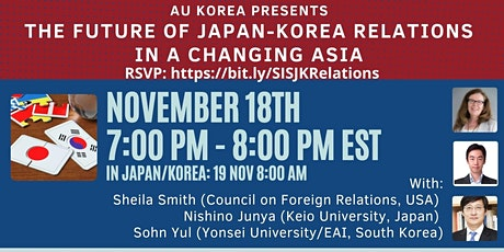 The Future of Japan-Korea Relations in a Changing Asia tickets