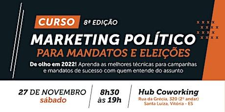 Curso de Marketing Político - Mandatos e Eleições ingressos