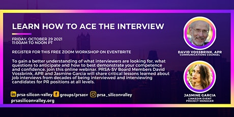 PRSA Silicon Valley presents Learn How to Ace the Interview tickets