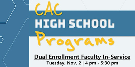 Fall 2021 Dual Enrollment Faculty In-Service tickets