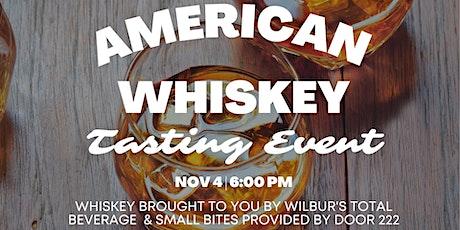 American Whiskey Tasting tickets
