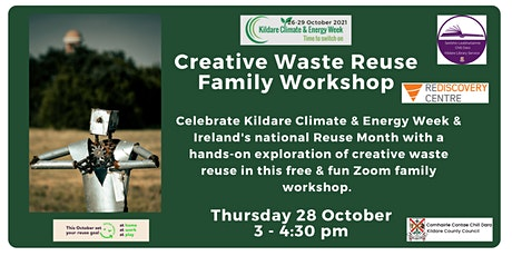 Kildare Climate & Energy Week: Creative Waste Recycling Family Workshop tickets