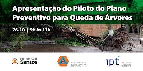 Apresentação do Piloto do Plano Preventivo para Queda de Árvores bilhetes