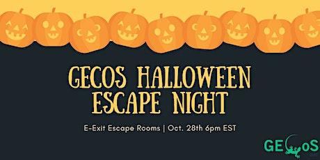 GECoS Halloween Escape Night tickets