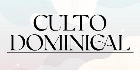 1er. Servicio Dominical - Domingo 31 de Octubre entradas