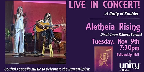 Aletheia Rising Live in Concert at Unity of Boulder tickets