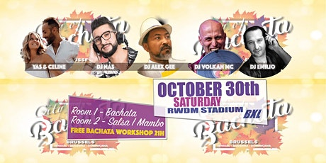 CITY OF BACHATA GALA 2 ROOMS - 30 0CTOBER tickets