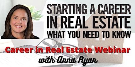 Career in Real Estate Webinar (Greenville, South Carolina) tickets
